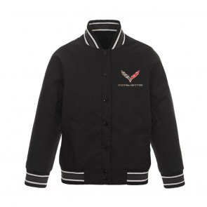 C7 Ladies Varsity Jacket | Charcoal/Black