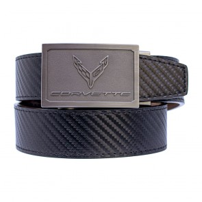 C8 Corvette | Carbon Fiber Pattern Leather Belt