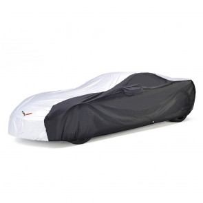 C7 Corvette Intro-Guard Cover - Silver/Black