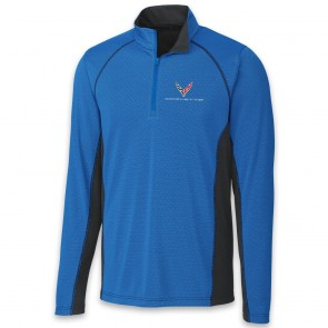 C8 Corvette Colorblock | Half Zip - Royal/Black