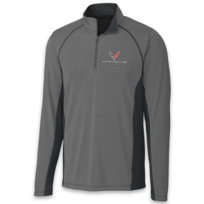 C8 Corvette Colorblock | Half Zip - Gray/Black