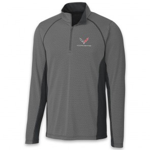 C7 Corvette Colorblock | Half Zip - Black/Gray