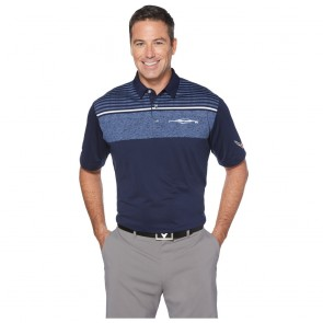 C8 Corvette Callaway® Multi-Striped Polo - Navy