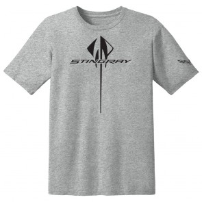 C7 Vertical Stingray Tee | Heather Gray