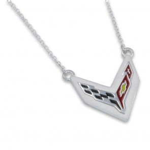 C8 Corvette Sterling Silver | Cable Chain Necklace