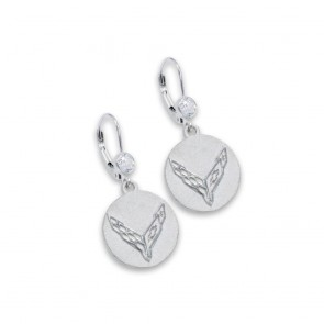 C8 Corvette Sterling Silver | CZ Earrings