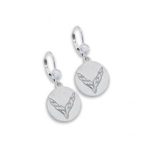 C8 Corvette Sterling Silver | CZ Earrings