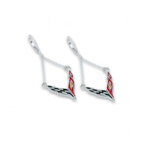 C8 Corvette Sterling Silver | Chain Earrings