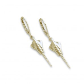 C8 Corvette 14k Yellow Gold | Stingray Earrings
