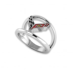 C8 Corvette Sterling Silver | Emblem Ring