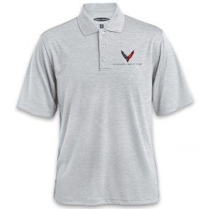 C8 Horizontal Textured Polo | Heather Gray