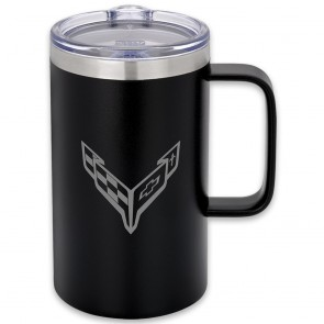 C8 Crossed Flags | 18 oz Travel Mug