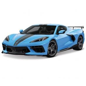 1:18 Scale C8 Corvette | Blue/Black Stripe