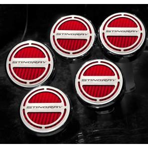 2014-2015 Stingray Carbon Fiber Fluid Cap Cover Set (Automatic)