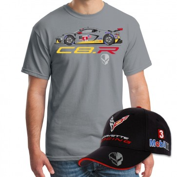 Corvette Racing C8.R #4 Car Tee & Official Team Cap