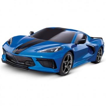 1:10 Scale C8 Corvette   Traxxas RC Car - Blue