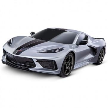 1:10 Scale C8 Corvette   Traxxas RC Car - Silver
