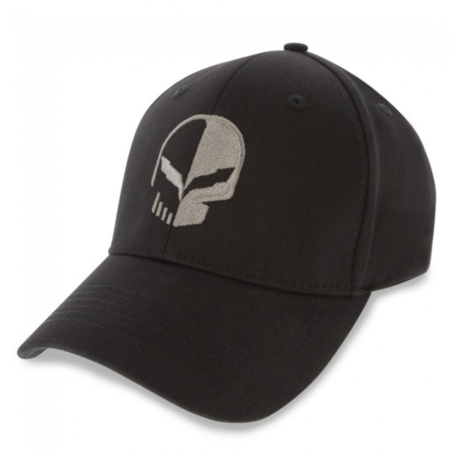C7 Corvette Logo Flex Fit Pro Performance Fitted Cap Black