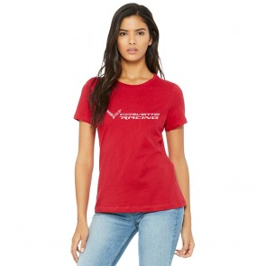 Corvette Racing Ladies Tee | Race Red