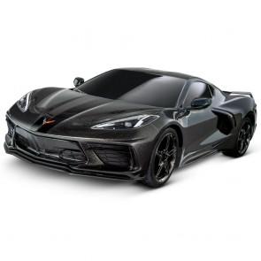 1:10 Scale C8 Corvette   Traxxas RC Car - Black