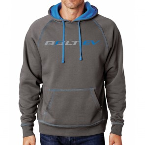 Bolt EV Hooded Fleece - Gray/Electric Blue