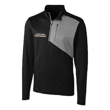 Acura / Team Penske | Cutter & Buck Men's Half-Zip | Black / Gray