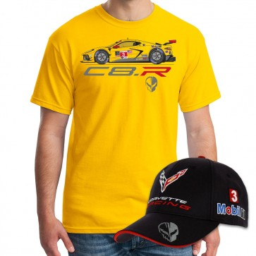 Corvette Racing C8.R #3 Car Tee & Official Team Cap