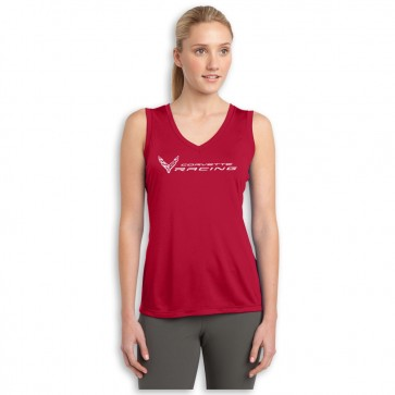 Corvette Racing Ladies | Sleeveless V-neck Tee