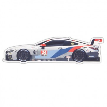 BMW / RLL | Vinyl Magnet | Car # 24