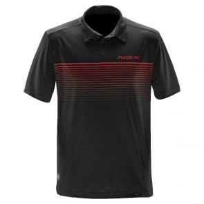 Acura NSX Striped Polo | Black/Bright Red