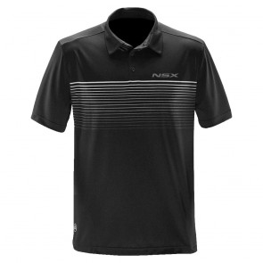 Acura NSX Striped Polo | Black/Titanium