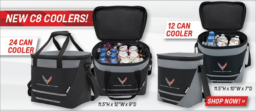 New C8 Coolers! 12 & 24 Can Sizes, Shop Now!