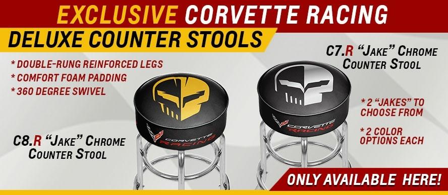 Exclusive Corvette Racing Delux Counter Stools