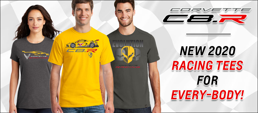 Corvette C8.R - New 2020 Racing Tees For Every-Body!